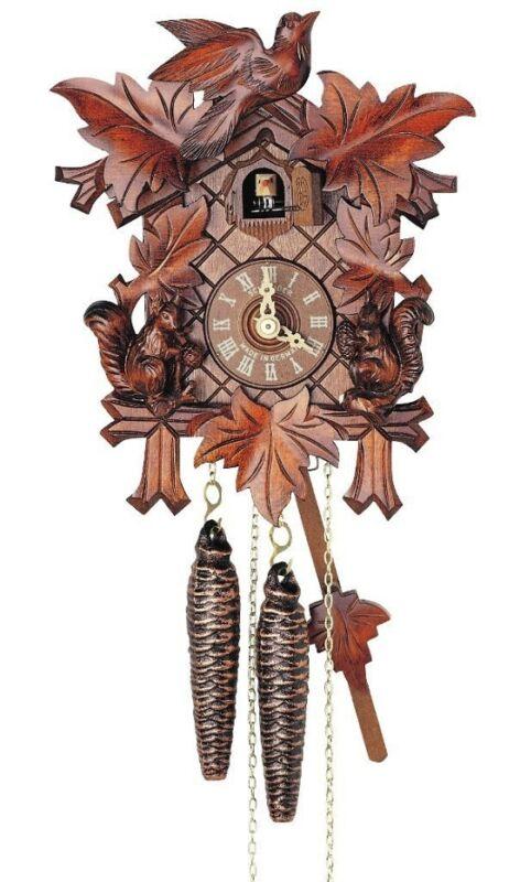 (New!) 30-Hour Cuckoo Clock with Squirrels by Anton Schneider 89/11