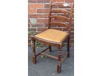 retro vintage 30`s ladder back oak spare dining hallway bedroom chair