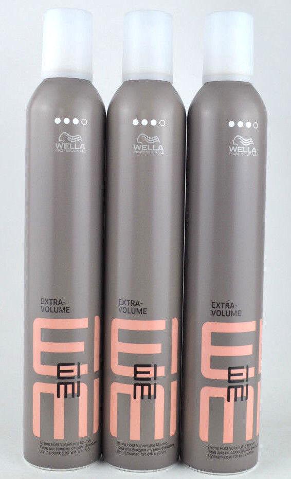 (EUR 21,73 / L) 3x500ml Wella EIMI Extra Volume Haarschaum für starken Halt
