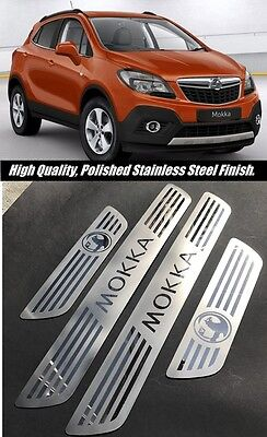 NEW Vauxhall Mokka Stainless Steel Door Sill Scuff Protector Plates All Models