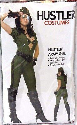 Womens Hustler Army Girl Adult Sexy Dress Up Halloween Costume ](Army Halloween Costumes For Women)