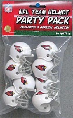 Arizona Cardinals Team Helmet Party 8 Pack [NEW] NFL Toy Party Plastic Arizona Cardinals Party Pack