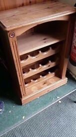 Lovely pine wine rack