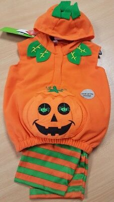 Childrens Pumpkin Costume Halloween Aged 0-3 Months - 0-3 Month Pumpkin Halloween Costumes