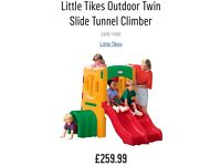 Little tikes twin slide tunnel climber. £85