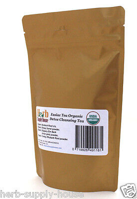 Essiac Tea Organic 3.2oz, Blood Detox, Makes 1 gallon Powder & Cut/Sifted Herbs