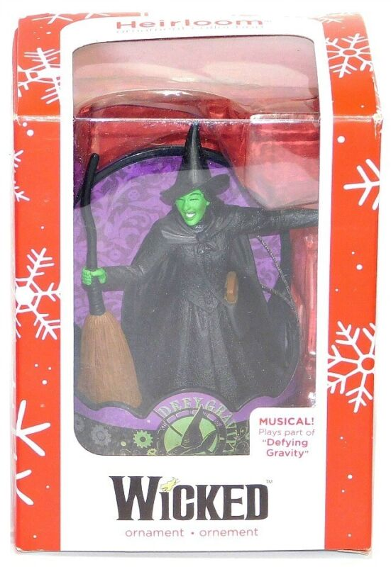 2016 Carlton American Greetings Wicked Defying Gravity Sound Musical Ornament