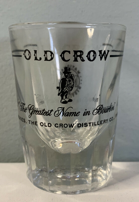 Old Crow Shot Glass, Old Crow Whiskey Logo Shot Glasses,