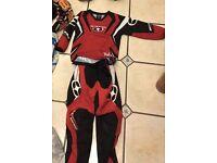 Size small kids children's motocross kit