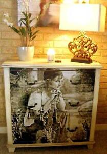 Shabby Chic Style Chest of Drawers - Stunning Upcycled Scarborough Stirling Area Preview