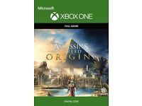 Assassins creed origins and Rainbow 6 siege digital codes for Xbox