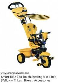 SMART TRIKE ZOO TOUCH STEERING 4 in 1 BEE (Yellow) AS NEW