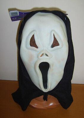 LING GHOST FACE MASK GLOW IN THE DARK HALLOWEEN FANCY DRESS (Glow In The Dark Scream Maske)