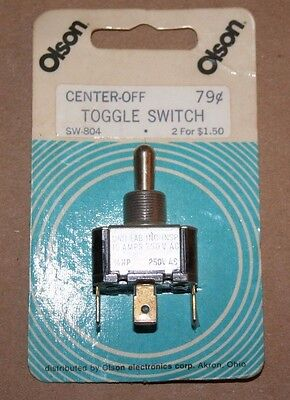Vintage Olson Electronics Und Lab Inc Toggle Switch On-off-momentary Spdt New