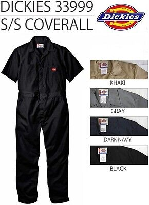 Dickies 33999 Short Sleeve Coveralls Coverall Black Navy Blue Khaki Grey