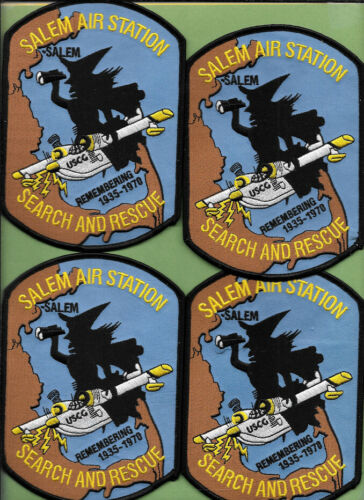 LOT OF 4 SALEM MASS AIR STATION USCG COAST GUARD SEARCH RESCUE WITCH CITY SAR
