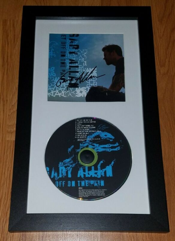 GARY ALLAN Framed Signed Get Off On The Pain CD Booklet Authentic Autograph