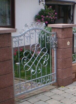 Garden Door Gates Monaco-GT100/120S Pset Wrought Iron Zinc Plated