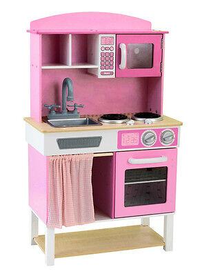 Best For Kids Kinderküche für Mädchen mit Zubehör Spielküche Holzküche  ()