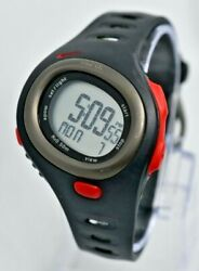 Men's NIKE Triax C5 Digital LCD Sport Watch, Black/Red, HRM Compatible, SM0015