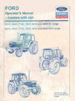 Ford Tractor 560 780 Op Shop Owner 3 Manual Maclagan Toowoomba Surrounds Preview