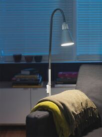 IKEA floor reading lamp in white - perfect condition