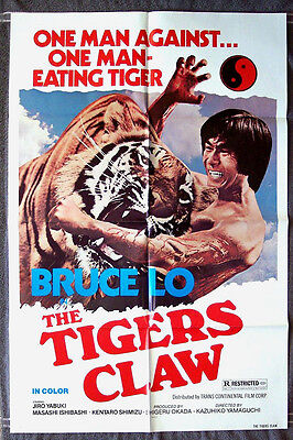 The Tigers Claw 1sh silver screen poster SONNY CHIBA Martial Arts JIRO CHIBA Karate 1977