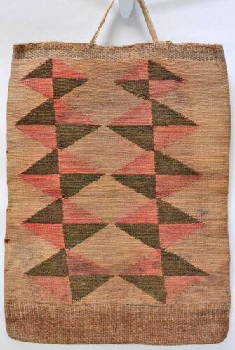 "Large Antique Nez Perce Corn Husk Bag - Plateau Flat Bag 20"" x 15"""