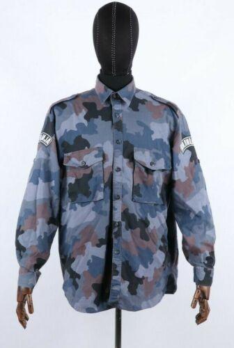 Militia Special Police Unit PJP Blue Ameoba Pattern Shirt