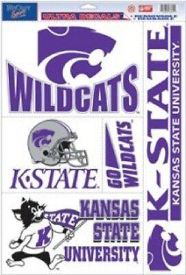 Kansas State Wildcats 11x17 Ultra Decal Sheet [NEW] Car Sticker Emblem Cling