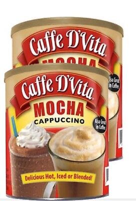 Cappuccino-drink-mix (Caffe D'Vita Hot or Iced Cappuccino Drink Mix, Mocha 64 Oz - 2 Pack)