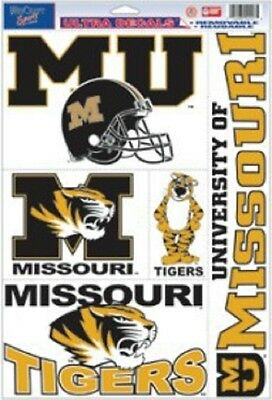 Missouri Tigers 11x17 Ultra Decal Sheet [NEW] Car Auto Sticker Emblem Cling
