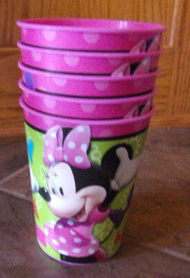 MINNIE MOUSE DAISY DUCK 5-PC  PLASTIC CUP SET  NEW (Minnie Mouse Plastic Cups)