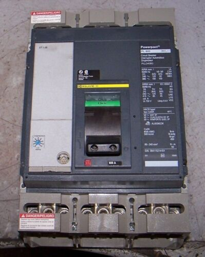 SQUARE D 600 AMP POWERPACT CIRCUIT BREAKER 480 VAC 3 POLE PLL34060