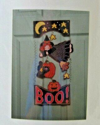Plastic Canvas Needlepoint Kit Halloween Witch Door Hanger Sugarplum Express - Halloween Door Hanger