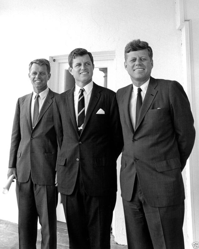 President John F. Kennedy with brothers Ted and Bobby 1963 New 8x10 Photo
