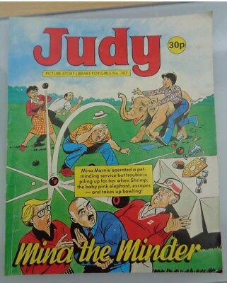 "1988 JUDY picture story library for girls no. 307 ""Mina the Minder"""