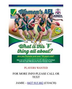 Female Footballers Wanted Ballarat Central Ballarat City Preview
