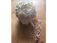 C stunning ivory artificial wedding bouquet