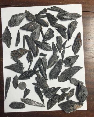 1lb Bulk Black Kyanite Crystals Blades Fans Wholesale Cluste