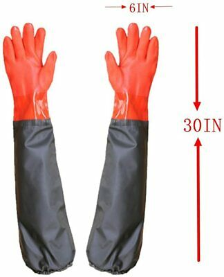 Long Working Durable Waterproof Pvc Knitted Gloves With Cotton Lining Fishing