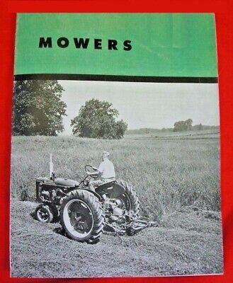 Ih Farmall Mccormick Sickle Mowers Sales Brochure Cub Super A C H M Circa 1951