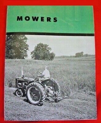 Ih Farmall Mccormick Sickle Mowers Sales Brochure Cub Super A C H M Circa 1951