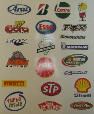 21 large Car / Motorbike Racing Sponsor Logos stickers . BLACK FRIDAY SALE