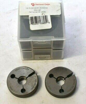 Vermont Gage 12-13 Unc 2a Thread Ring Set Gage Gono Go Ng With Case