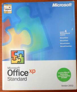 Microsoft Office XP Standard 2002 in the box (used)