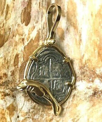 ATOCHA Coin Manatee  Pendant 14K Gold Sunken Treasure Shipwreck Coin Jewelry 14k Manatee Pendant
