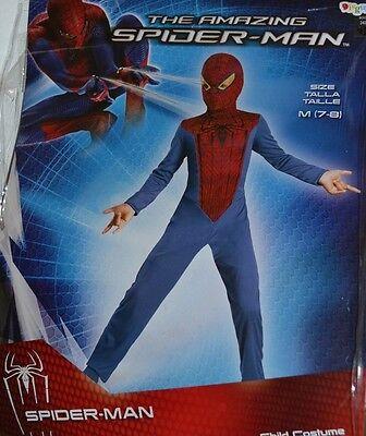 THE AMAZING SPIDER-MAN Costume Boys Sz MEDIUM 7-8 Dress Up Halloween](Amazing Halloween Costumes For Boys)