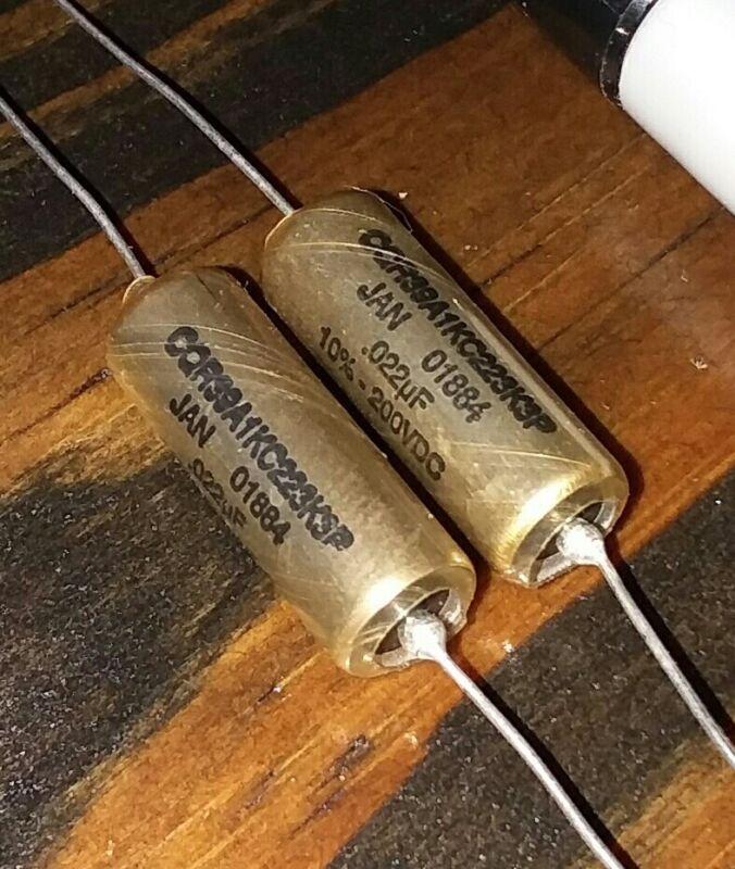 Dearborn high performance audio guitar tone  capacitors .022uf 200vdc HIFI USA