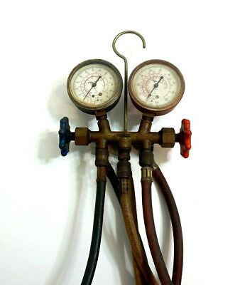 Robinair 11692 11693 Hvac Ac Manifold Vibration Gauge Set W Brass Fittings